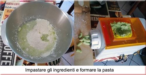 formatura pasta senza glutine ai piselli
